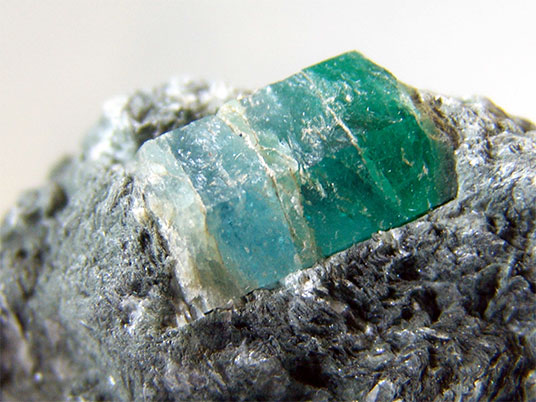 Bi-Colored Beryl Crystal photo image