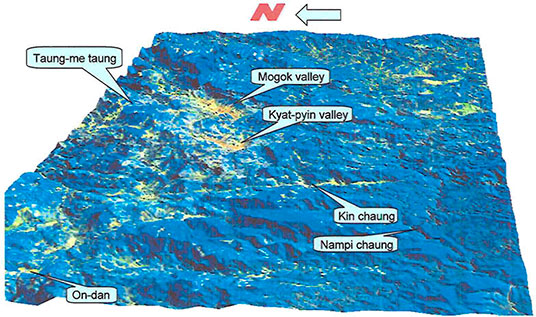 Geomorphology of Mogok Stone Tract