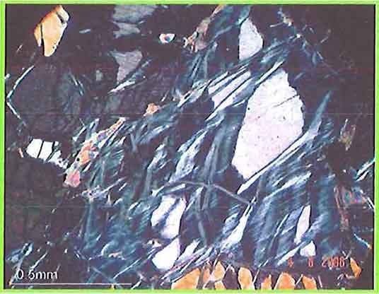 Flaky Serpentine (Antigorite) In Peridotite photomicrograph image