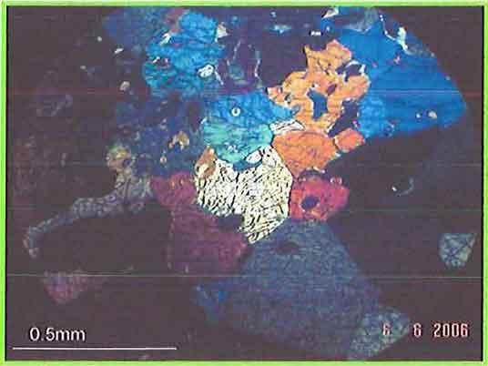 Gabbro Rock photomicrograph image
