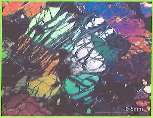 Orthopyroxene In Peridotite photomicrogaph image