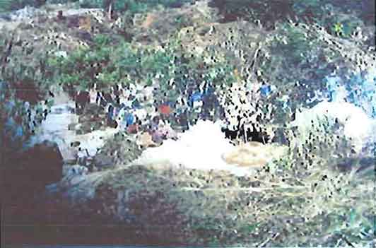 Illegal mine photo image