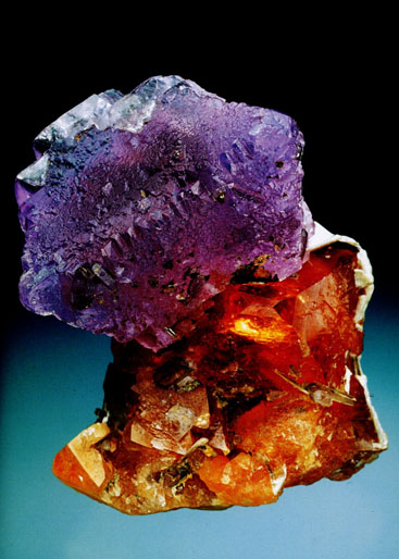 Fluorite on Scheelite photo image