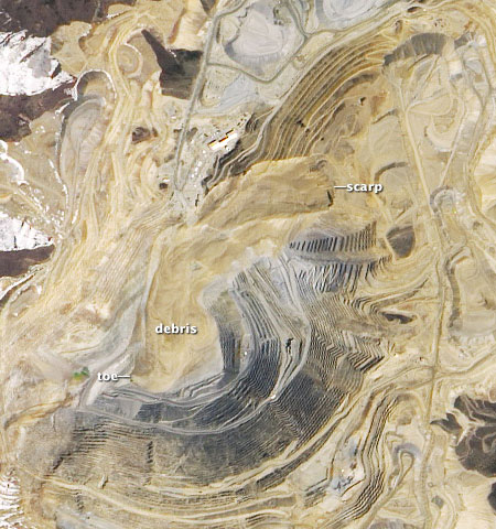 Bingham Canyon Mine After satellite image
