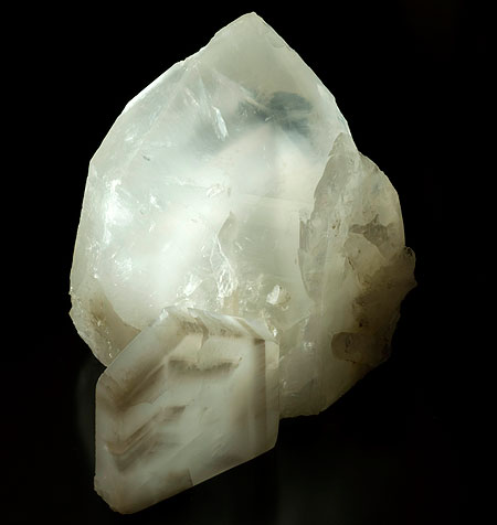 Cat's Eye Quartz Crystal and Slice photo image