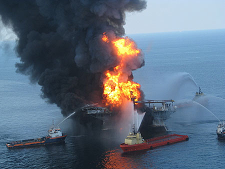 Deepwater Horizon Fire photo image