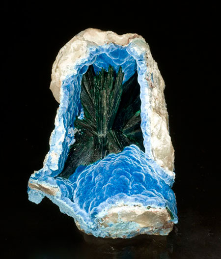 Malachite in Shattuckite photo image