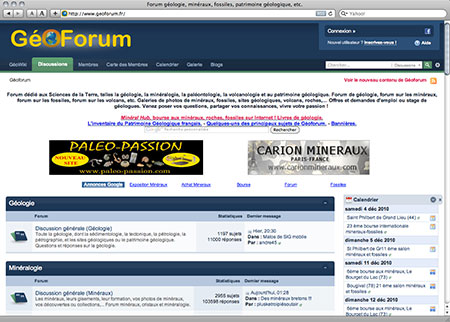 GéoForum screenshot image