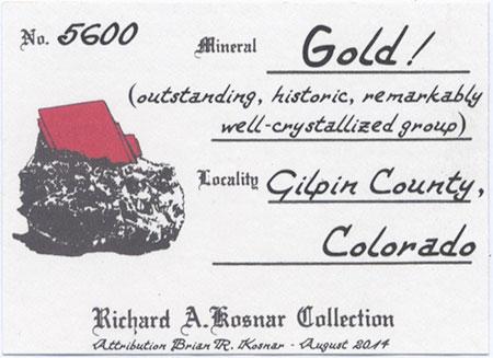 Gold label image