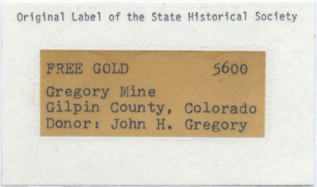 Gold label image