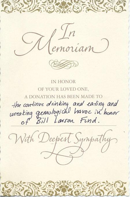 In Memoriam card image