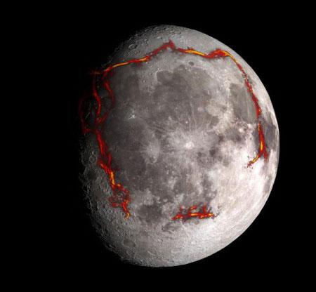Moon photoillustration