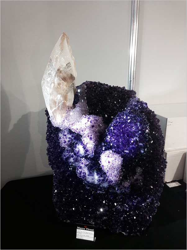 Calcite and Amethyst photo image