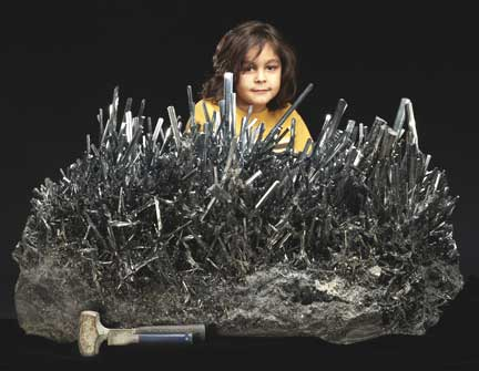 Stibnite Specimen photo image