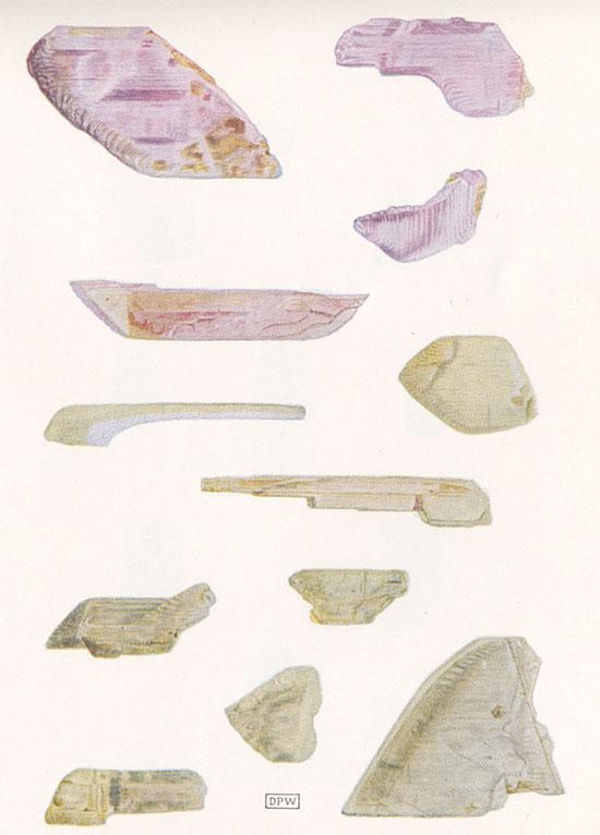 Spodumene Crystals illustration image