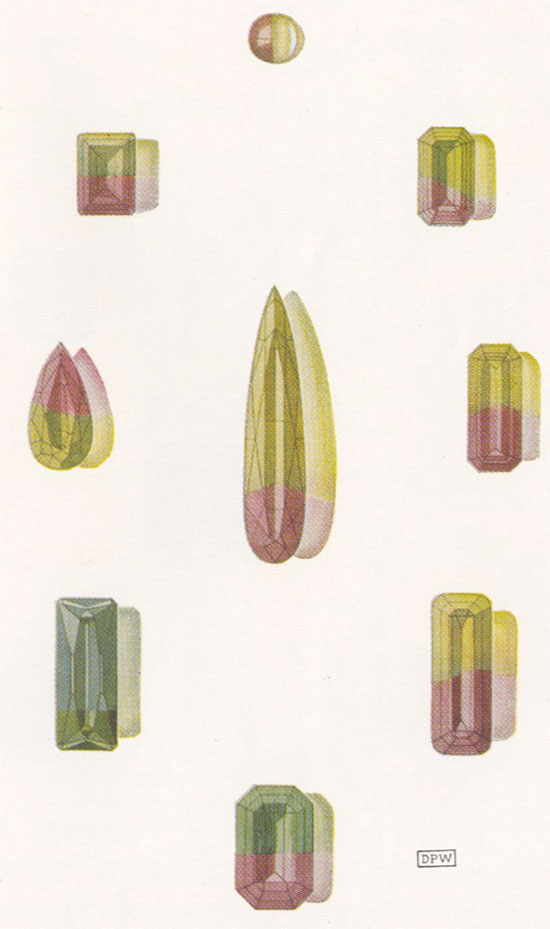 Tourmaline illustration image