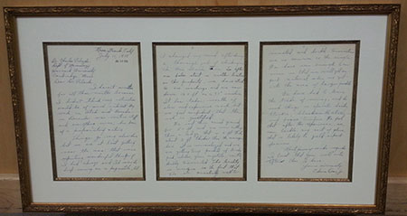 Framed Letter photo image