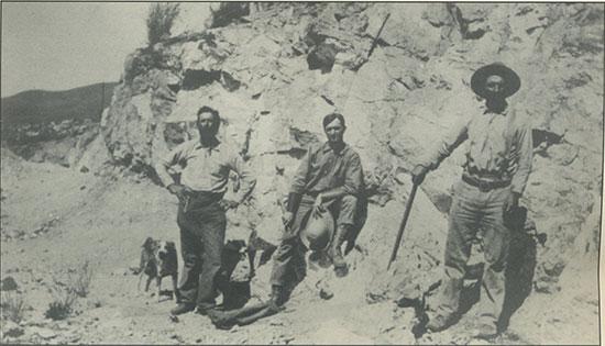 Miners at Pala Chief Mine photo image